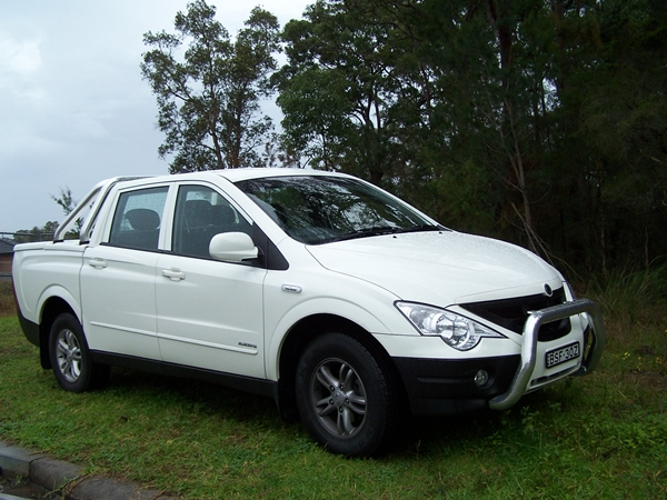 2011 SsangYong Actyon 4X4 Ute External front Side