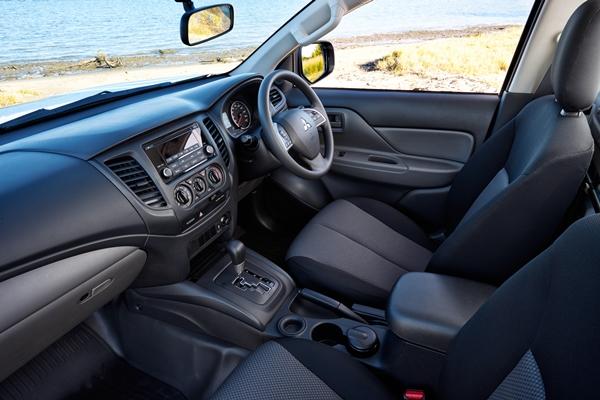 Mitsubishi Triton GLX Single Cab Trayback Ute FEATURE front