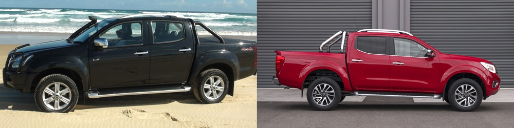 Isuzu D Max LST and Nissan Navara ST-X