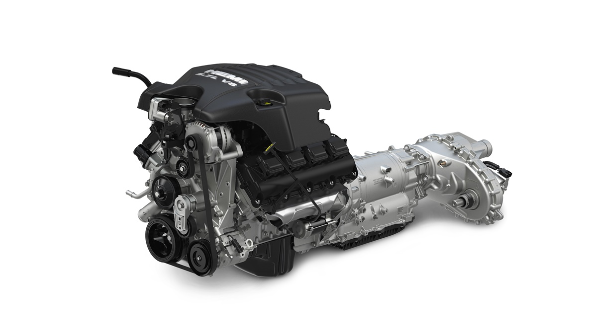 Ram 1500 5.7-liter HEMI® V-8 engine and TorqueFlite eight-speed automatic transmission