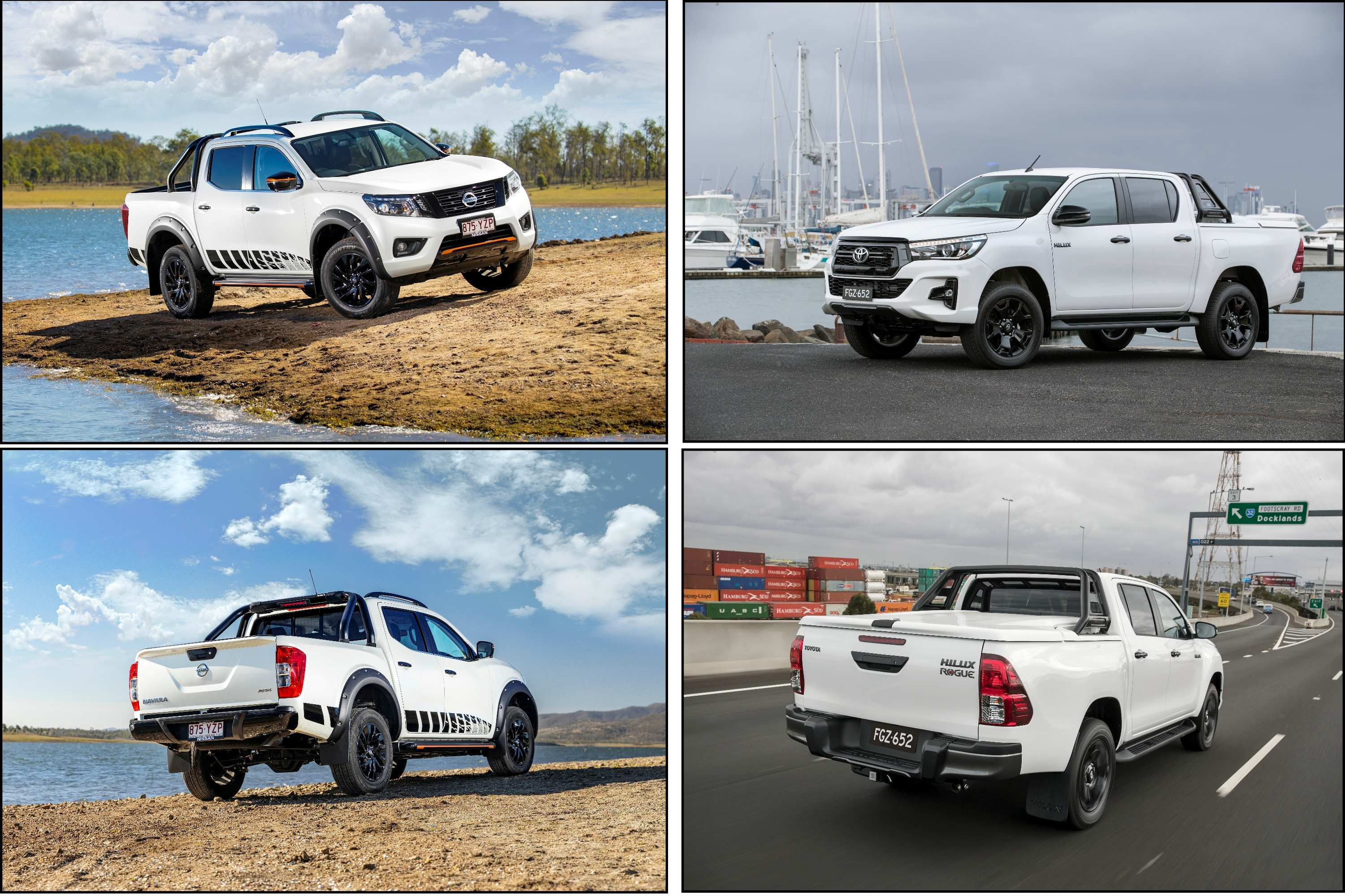 2020 Navara N-TREK VS HiLux Rogue comparison Exterior