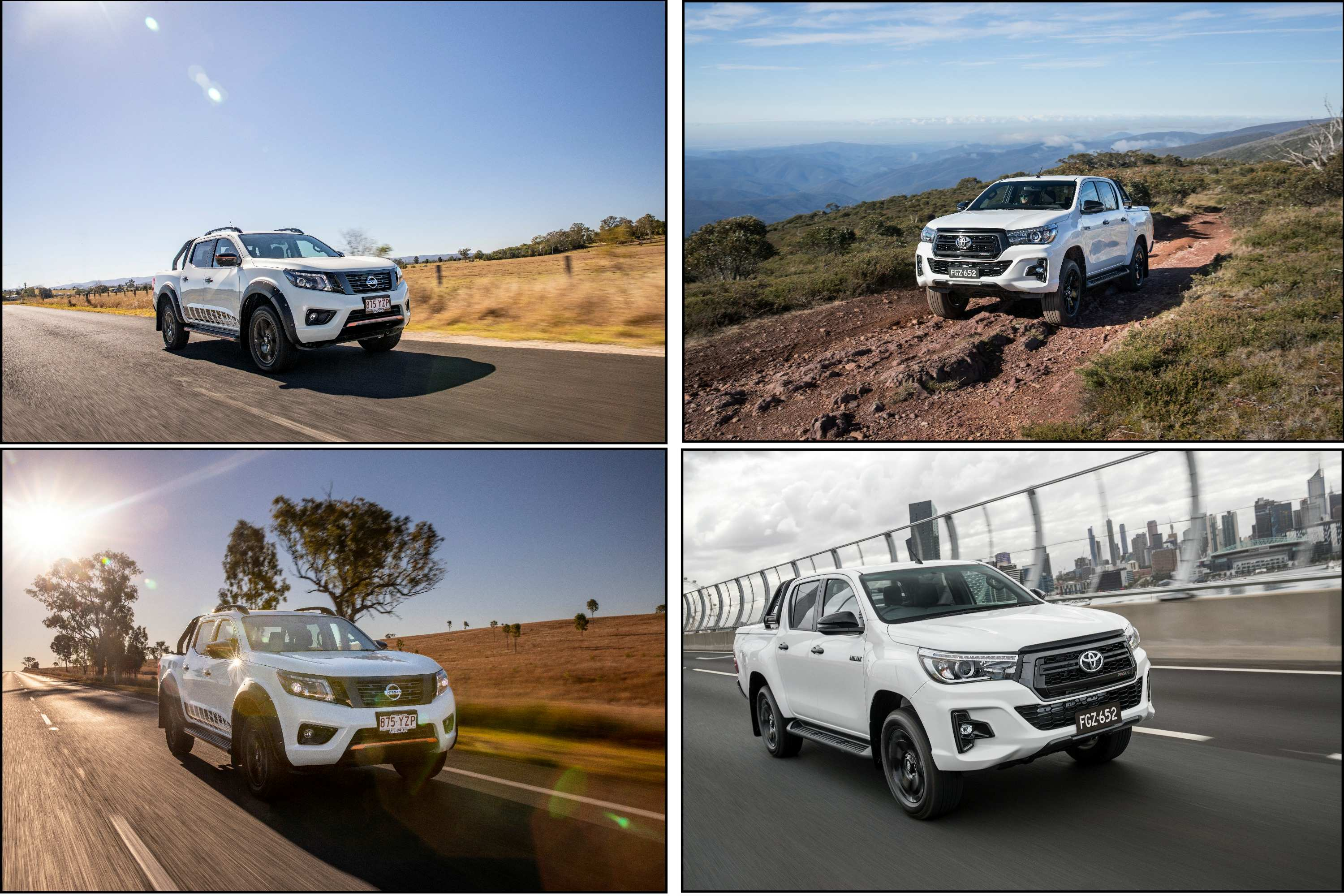 2020 Navara N-TREK VS HiLux Rogue comparison driving