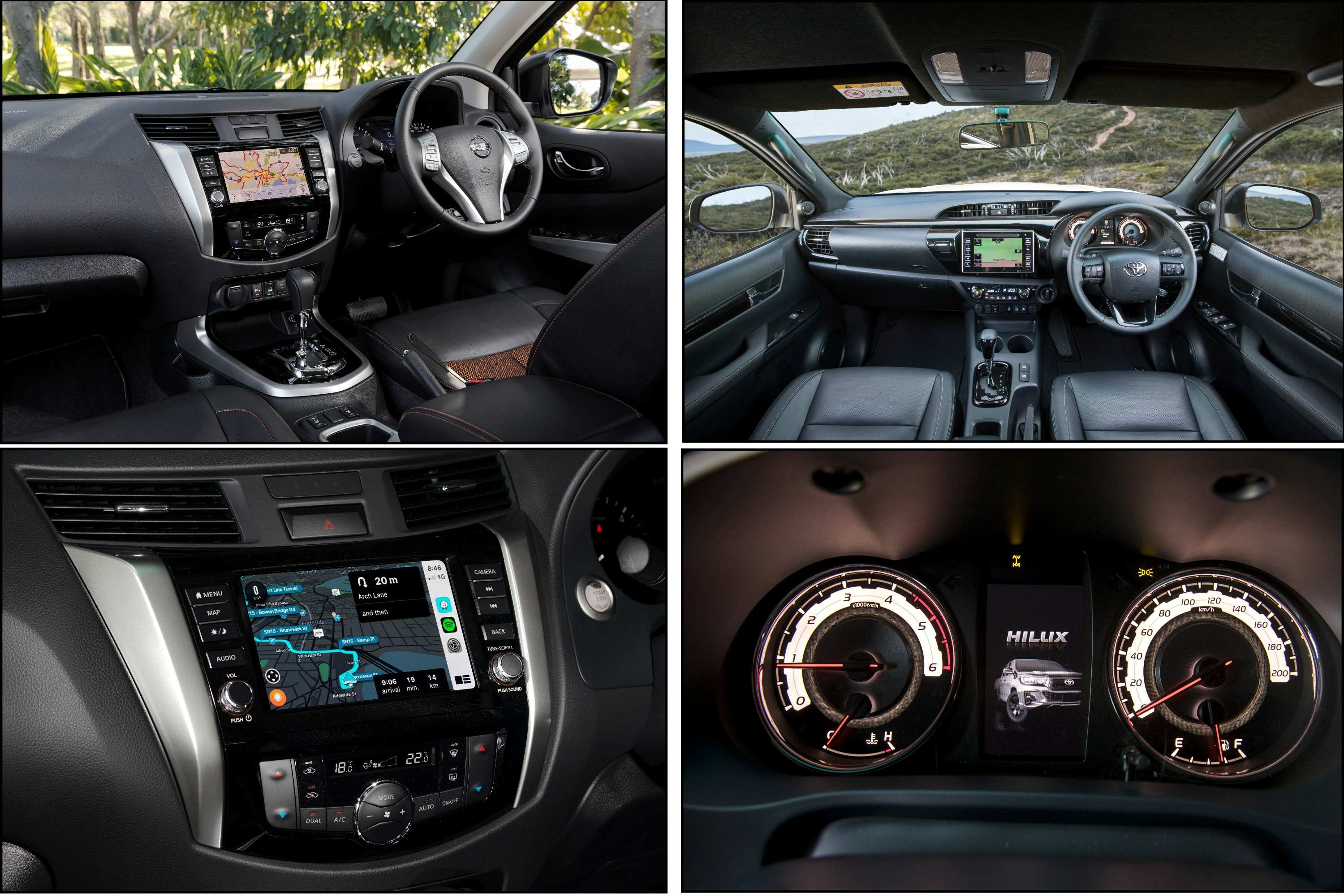 2020 Navara N-TREK VS HiLux Rogue comparison interior