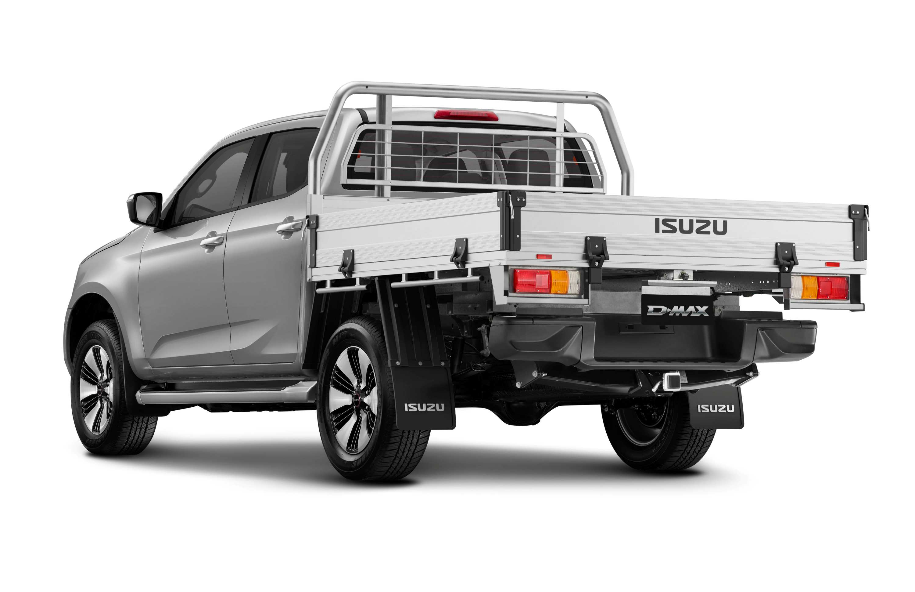22MY Isuzu D-MAX 4x4 LS-U Crew Cab Chassis Heavy Duty Alloy and Tow Bar Receiver.